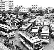 Buses stay off roads, add to agony of passengers