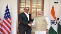 Prime Minister Narendra Modi meets former US President Barack Obama