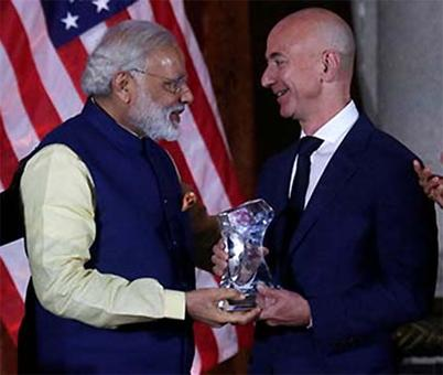 Modi clinches deal with Bezos, Amazon will keep investing in India