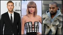 Calvin Harris sings to ex-girlfriend Taylor Swift's nemesis Kanye West's song