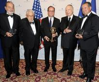 French President Francois Hollande Honored by Appeal of Conscience Foundation With World Statesman Award