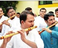 This flautist doesn't mind being in a minority