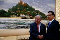 New U.N. chief, in China, calls for human rights respect