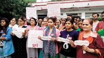 SFI sends sanitary pads to Jaitley to protest GST