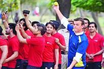 Adam Gilchrist meets youngsters in Delhi