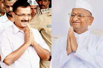 Arvind Kejriwal goes for 'Gandhigiri' screening but gives Anna Hazare's biopic a miss