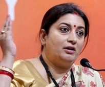 Smriti calls Rahul a 'failed dynast', slams his speech in US