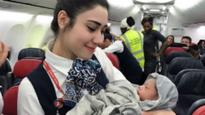 Turkish Airlines cabin crew save the day after 28-week pregnant woman delivers baby girl mid-air!