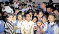 CM visits school, tells students to focus like Arjun