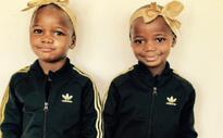 Madonna shares photo of newly adopted twins in matching Adidas outfits