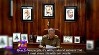 Raul Castro announces brother Fidel Castros death
