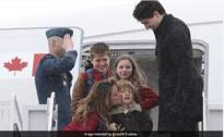 Canadian PM Justin Trudeau reaches India on a