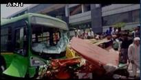 Two dead, five injured in Delhi bus-rickshaw collision