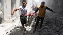 Air strikes hit Syrian city Aleppo for ninth day
