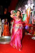 Spotted: Rani Mukerji makes an appearance at Durga Pooja