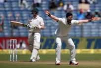 Cricket-Paceman Umesh swings it for India on turning track