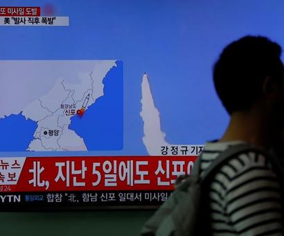 North Korea tests missile in face of US warnings