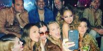 Nicole Richie celebrates birthday in retro star-studded fashion