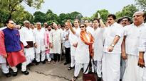 Opposition protests against suspension of 6 Congress MPs