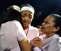 'Life is not a joke': Olympian Tyson Gay mourns daughter at public vigil