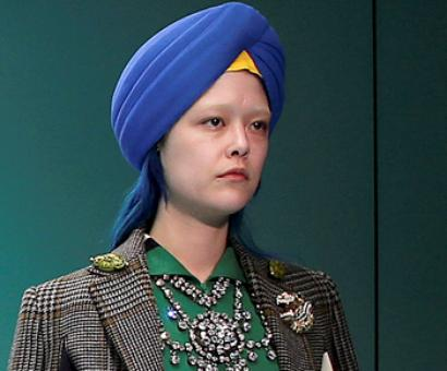 White model in a turban causes outrage on Twitter