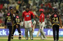 Punjab ride on Gayle-Rahul show, top IPL table