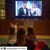 Chris Hemsworth's children react to seeing their father on TV during the Golden Globes