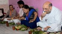 BJP President Amit Shah has lunch with Dalit family in Rajasthan