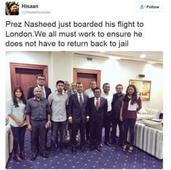 Maldives ex-leader to arrive in UK