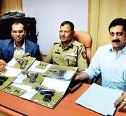 3 held, guns and bullets worth Rs 1.74 lakh seized