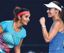 Sania-Martina in final; it is all over ... Sania-Martina in final; it is all over for Bopanna
