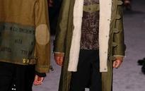 Native American patterns on retro Valentino coats at Paris