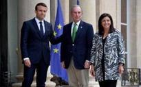Michael Bloomberg meets Emmanuel Macron as his drive to honour Paris climate change pact gathers pace