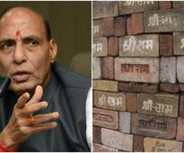 Ram temple not an issue in UP polls: Rajnath Singh