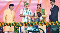 In Daman, PM Modi flags off copter service