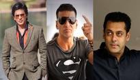 Shah Rukh Khan, Akshay Kumar and Salman Khan amongst the worlds richest actors