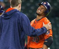 Astros' Carlos Gomez back in lineup after hand contusion