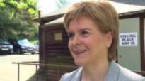 Scottish leader casts her vote in EU referendum