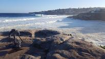 Australia's most famous sculpture show got smashed by huge seas