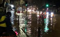 West London streets flooded after burst pipe sends torrents of water through Hammersmith