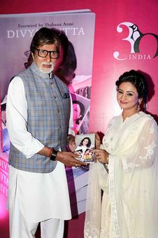 PIX: Amitabh Bachchan launches Divya Dutta's book