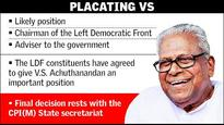Post with Cabinet rank for Achuthanandan