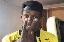 Manchester United fan Usain Bolt greets Zlatan Ibrahimovic with welcome video