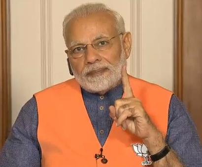 Congress spreading lies, dividing society: Modi to K'taka BJP workers