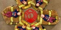 6 Newborns Born to Firefighters Posed Together for the Cutest Christmas Card