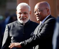 Modi in South Africa for talks with Zuma, trade summit