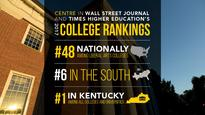 New Wall Street Journal ranking gives Centre high marks