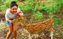 Mishti Chakraborty is an animal lover