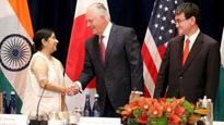 India-US-Japan meet: Countries urged to respect international law; Sushma Swaraj deplores North Korea's actions