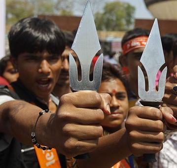 FIR filed against BJP leader for carrying trishul on Ram Navami